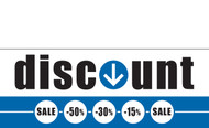 Discount Sale Banner Sign style 1500