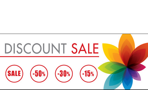 Discount Sale Banner Sign style 1600