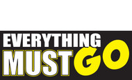 Everything Must Go Banner Sign style #1000