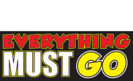Everything Must Go Banner Sign design style 1100