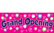 Retail Store Grand Opening Banner Sign style 3100