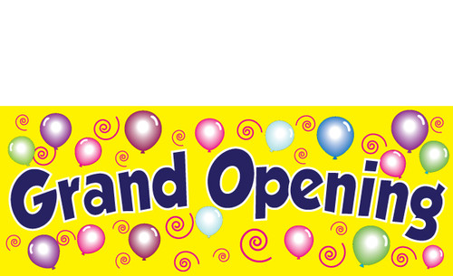 Eye Catching Grand Opening Vinyl Banner Sign. Style 3200