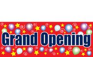 Grand Opening Vinyl Banner Sign style 3300 for outdoor or indoor advertising