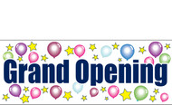 Grand Opening Outdoor Banner Sign Style 3400