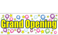 Multi-Color Grand Opening Banner Sign design style 3500