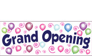 Grand Opening Banner Sign design #3600 in Full Color
