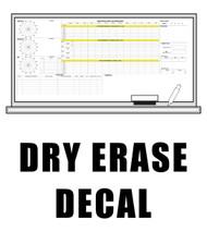 Dry Erase Vinyl Decal