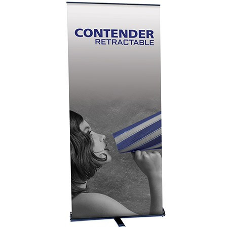 "Contender Mega Retractable Banner Stand 35.5"""