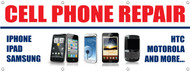 Cell Phone iphone repair store banner sign