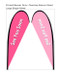 Teardrop Flag Banner Medium Single Sided Replacement Graphic