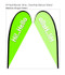 Teardrop Flag Banner Large Single Sided Replacement Graphic