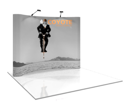 Coyote Curved Pop Up Display (4x3)