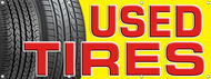 Used Tires Banner Sign