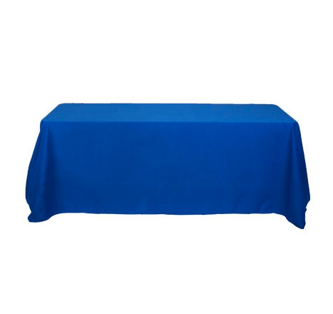 Blank Table Cover and Throw for Trade Show