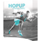 Hopup 8ft curved full graphic 3x3 with Endcaps
