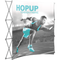 Hopup 8ft curved full graphic 3x3 without Endcaps