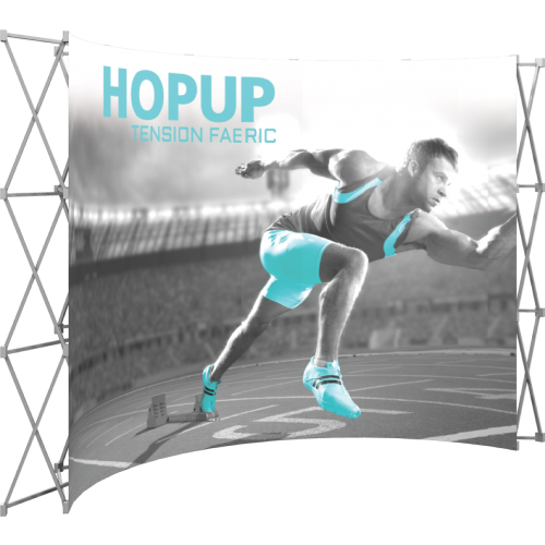 Hopup 12ft curved full graphic 5x3 without Endcaps
