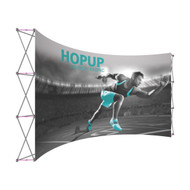 Hopup 15ft curved front graphic 6x3 without Endcaps