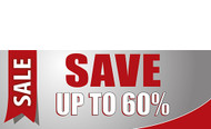 Discount Sale Save Up To Percentage Banner Sign Style 1800