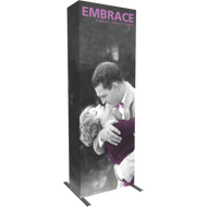EMBRACE 2.5FT (1x3) FULL HEIGHT PUSH-FIT TENSION FABRIC DISPLAY With End-Cap Right View