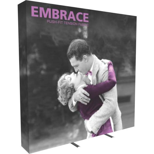 EMBRACE 8FT FULL HEIGHT PUSH-FIT TENSION FABRIC DISPLAY With End-Caps Right View