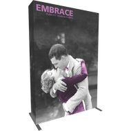 EMBRACE 5FT (2X3) FULL HEIGHT PUSH-FIT TENSION FABRIC DISPLAY WITH END-CAP