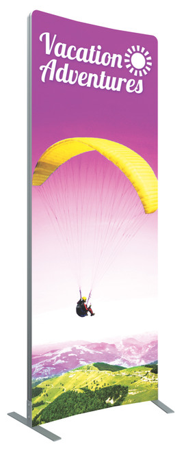 VECTOR FRAME CURVED 01 FABRIC BANNER DISPLAY LEFT VIEW