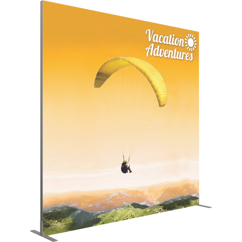 VECTOR FRAME SQUARE 04 FABRIC BANNER DISPLAY Left View