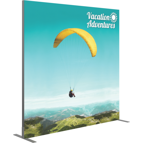 VECTOR FRAME SQUARE 03 FABRIC BANNER DISPLAY LEFT VIEW