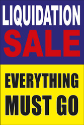 Liquidation Sale Everything Must Go Poster Style 1800