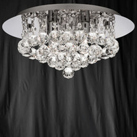 S9134044CC Hanna 4 Light Chrome & Crystal Ceiling Light