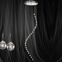 S915742CC Spiral 5 Light Chrome Ceiling Pendant