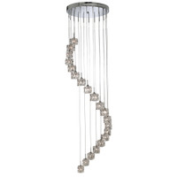 S91782020LED Ice Cube Ceiling Pendant Chrome 3mtrs