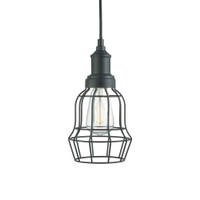 Searchlight 6847BK Bell Cage Ceiling Pendant Black