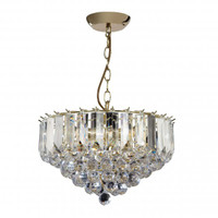 Endon FARGO-14BP Frago 3 Light Ceiling Pendant Brass