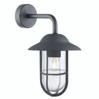 S913291BK Well Glass Wall Lantern Matt Black
