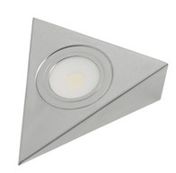 12Volt LED Under cupboard Light Stainless Steel Triangle 3W