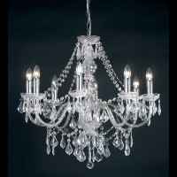 E313088CL 8 Light CHROME Acrylic Chandelier