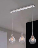 AZ161689 Mesh 3 Light Pendant Polished Chrome / Copper