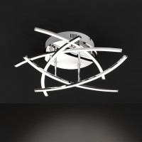 H6123102 Led Cross Ceiling Light Polished Chrome