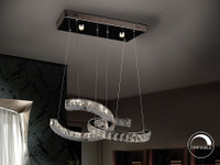 COCO twin crystal LED pendant