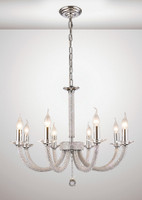 1530518  8 Light Chrome Crystal Ceiling Pendant
