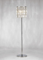 Diyas IL30179 Torre Curtain Crystal Floor Lamp