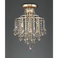 Diyas IL32770 Inina 4 Light French Gold Crystal Chandelier