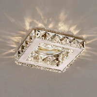 1530837CH Crystal GU10 Downlight Square