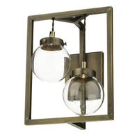 David Hunt CHI0975 Chiswick Wall light Antique Brass