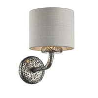 David Hunt SLO0799/SI Sloane Wall Light Pewter
