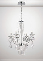 Diyas IL31615 Eden 4 Light Chandelier Chrome/Crystal