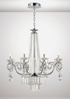 Diyas IL31616 Eden 8 Light Chandelier Chrome/Crystal