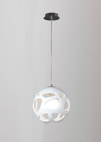 Mantra M5144 Organica 1 Light Small Modern White Pendant